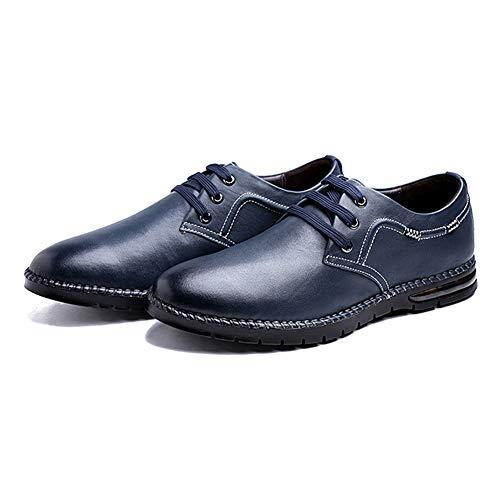 Da 5 Da Mocassini dimensioni 5 Scarpe 6 Blu Uomo 7 Da Blu Casual UK US Colore Eleganti Uomo Uomo In LXLA Casual Stile Uomo Pelle Da gvwq7x5