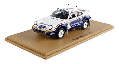 Spark S4882 – Porsche 953 – Dakar 1984 – Maßstab 1/43 – Weiß/Blau/Rot/Gold