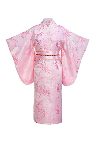 Yukata Women's Gorgeous Japanese Traditional Brocade Kimono Robe