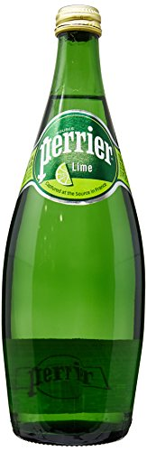 Perrier Lime Flavored Carbonated Mineral Water, 25.3 fl oz. Glass Bottle