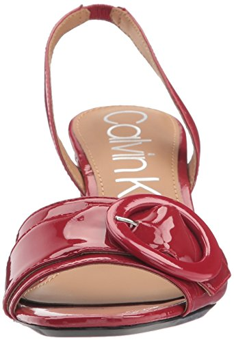 Claudia Klein Heeled Women's Sandal Crimson Calvin Red qAwR6azRx