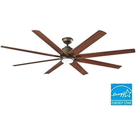 Kensgrove 72 In LED Indoor Outdoor Espresso Bronze Ceiling Fan By Home Decorators Collection