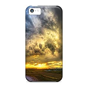 linJUN FENGFor Iphone 5c Protector Case Panning The Skies Phone Cover