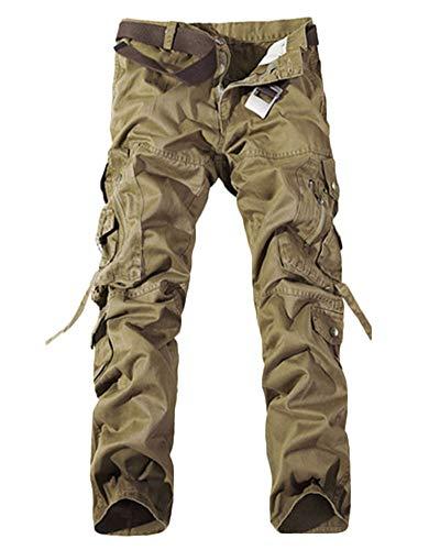 Poches Sports Homme sans Cargo De Militaire Ceinture Multi Kaki Pantalon Pantalons Combat SRxxwqp8t