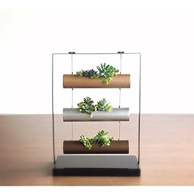 Living Art Vertical Garden Succulent Cactus Small Plants Herb Planting Cylinder System Unique Gift Decor