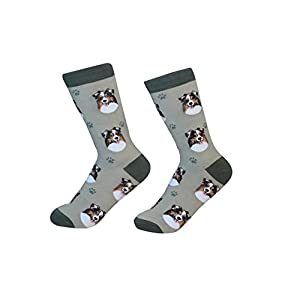 Australian Shepherd Socks - 200 Needle Count - One size fits most -Unisex 23
