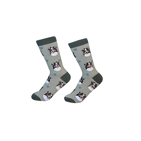 Australian Shepherd Socks - 200 Needle Count - One size fits most -Unisex 1