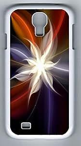 iCustomonline Flower Art Design Back Cover Case For Samsung Galaxy S4 I9500 White