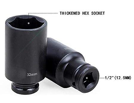 Llave de vaso de aire universal de 1//2 8-32 mm para llaves de impacto el/éctricas