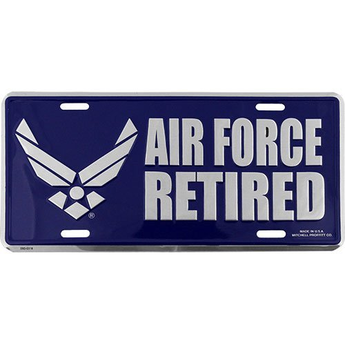 U.S. Air Force Hap Arnold Wing Retired License Plate