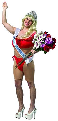 Rasta Imposta Men's Miss Universe Male Bikini, Red, One Size -