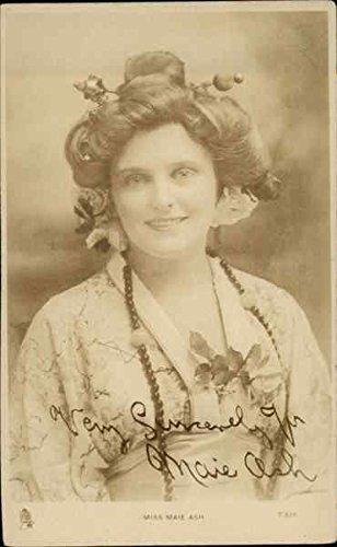 Signed Original Actress - Miss Maie Ash - Signed Actresses Original Vintage Postcard