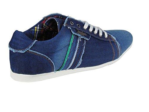 Denim Verde Com Azul Faixa Sneaker z1wqYPxgY