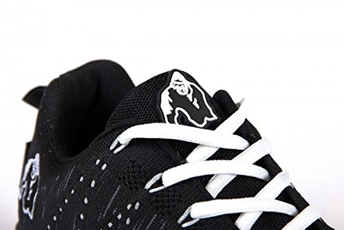 Gorilla Wear Brooklyn Knitted Turnschuhe - schwarz Weiß - - schwarz weiß - - Bodybuilding und Fitness Schuhe für Damen und Herren 3f624d