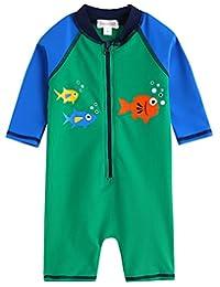 Vaenait Baby 0-24M Baby Boys Swimsuit Rashguard Swimwear Green Tang