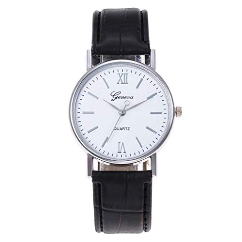 LUXISDE Watch Women Luxury Quartz Watch Precision Scale Dial Casual Leather Belt Woman's Watch E