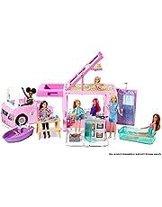 Barbie GHL93 - Barbie 3-in-1 DreamCamper-fordon med pool, pickup, båt och 50 tillbehör