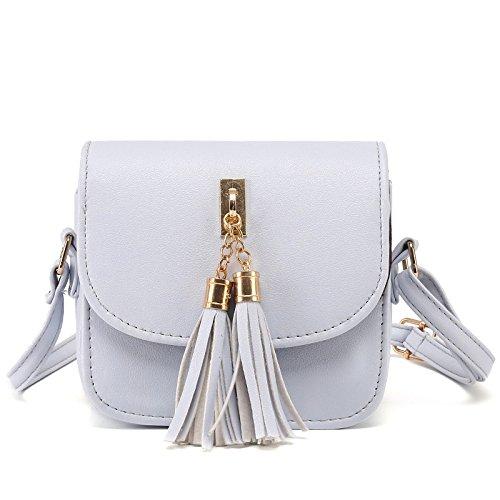 Bag Ladie's Bag Hollow Bag PU Gray Shoulder Leather Vintage Crossbody vvqY6F
