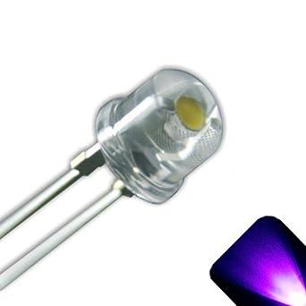 Super Bright 15 x UV//Purple LED 5mm Flat Top