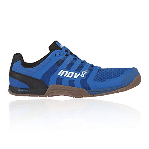 Inov-8 Mens F-Lite 235 V2 - Lightweight Minimalist Cross Training Shoes - Zero Drop - Athletic Shoe for Gym, Training and Weight Lifting - Wide Toe Box - Blue/Gum 12 M UK