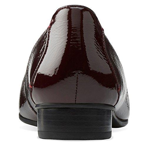 Clarks mujer Keesha Luca Slip-On Loafer borgoña (Burgundy Patent)
