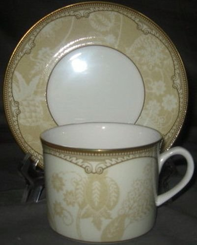 Royal Worcester Brocade Cup & Saucer Set
