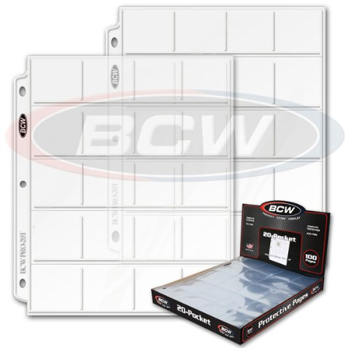 3 Boxes - BCW Pro 20-Pocket Coin Holder Storage Pages - Coin Collecting Supplies by BCW