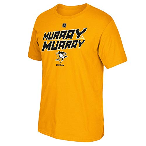 adidas Matt Murray Reebok Pittsburgh Penguins Premier Gold Jersey T-Shirt Men's