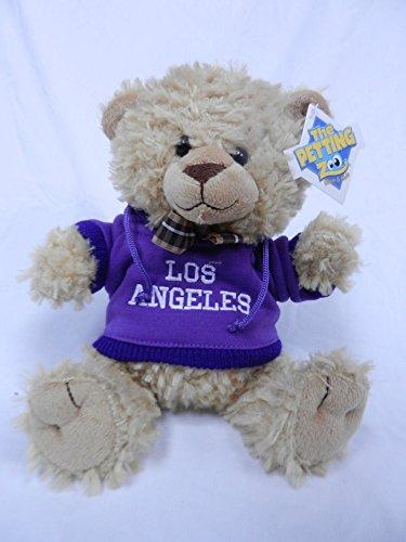 "The Petting Zoo 8"" Los Angeles Purple Hooded Sweatshirt Beige Bear"
