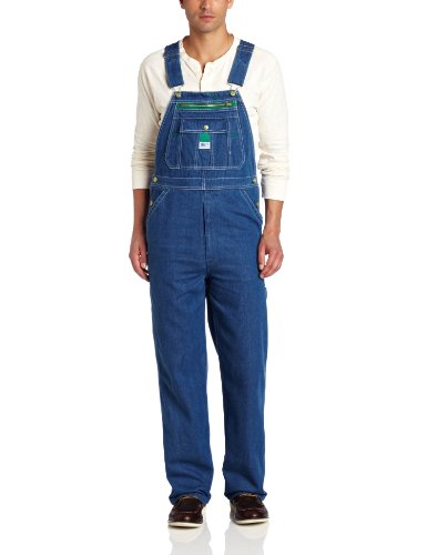 Tack Down Under - Liberty Men's Stonewashed Denim Bib Overall, Stone Washed, 34/32