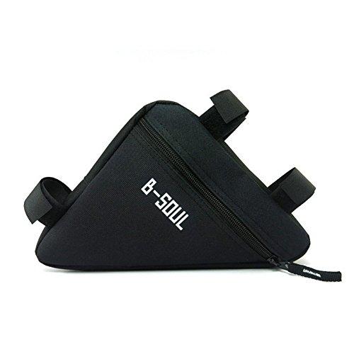 Qzc Bike Seat Pack Bike Bag Cycling Bicycle Frame Front Triangle Bag Bike Under Seat Top Tube Bag For Bike Tube Frame (Black) (Stress Free Bicycle Seat)