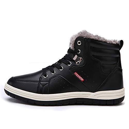 Inverno Inverno Stivali 48 39 39 39 02 Yi Pelliccia EU Sneaker Calzature Buy Piatto Nero Scarpe con Uomo All'aperto Neve Caloroso Stringate 6IItZwq