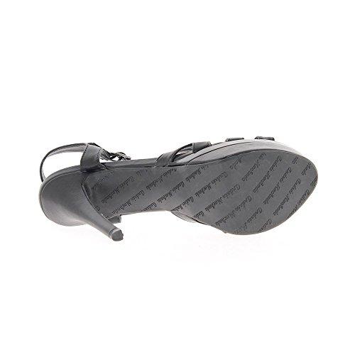 5cm 5cm À 14 Noires Taille 4 Talon Grande De Plateforme Sandales q0Pavg