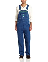 Men's Stonewashed Denim Bib Overall Stain Resistant, Multi Tool Pockets