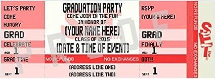 Amazon ticket style graduation invitation 3 red office ticket style graduation invitation 3 red filmwisefo