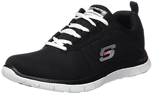 Skechers Flex Appeal - Next Generation - Zapatillas de Entrenamiento Mujer Negro (Bkw)