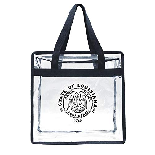 - Eoyles gy Clear Bag Stadium Approved 12 X 6 X 12 Crossbody Transparent Purse Shoulder Handbag for Men Women The Seal of The State of Louisiana Vintage Zippered Security Bag