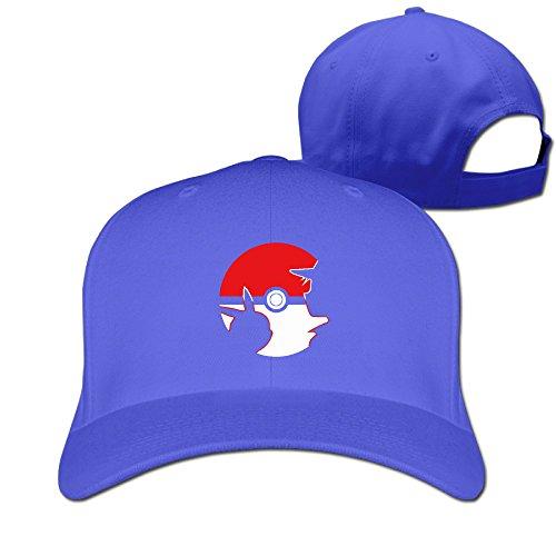 Mobile Game Pokeball Logo Man Woman Baseball Caps Royalblue