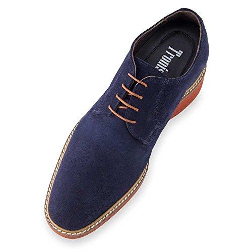 cm Masaltos de Altura 7 Alzas Piel con Aumentan Azul EN Que Hasta Zapatos A Corby Fabricados Hombre Modelo vr0qxwvF