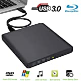 External Blu Ray Drive Guamar USB3.0 External DVD Blu Ray Writer Drive Blu Ray External DVD Disk Burner Player Super-Fast Blu-Ray Reading compatible with Notebook Netbook Desktop Mac/PC Windows10/7/8