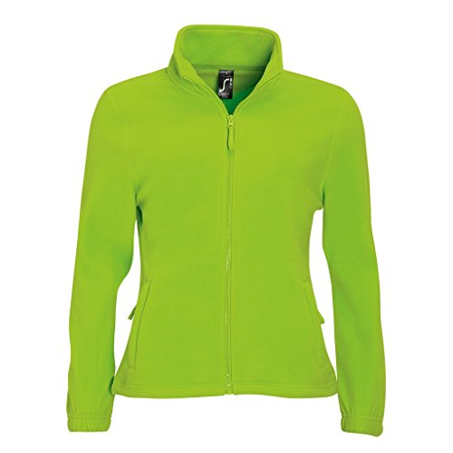 Zip Lime Felpa Pile Verde con SOLS in Donna xqFIT4nH