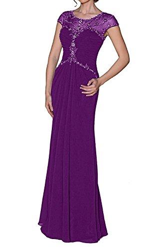 Braut Partykleider Brautmutterkleider Chiffon Abendkleider Elegant mia Festlichkleider La Langes Damen Lila Formal Kleider 5xpFHwA