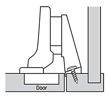 BLUM Top Clip Inset Hinges, Face Frame - Cabinet And Furniture ...