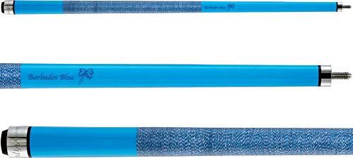 "Viper Colours 58"" 2-Piece Billiard/Pool Cue, Barbados Blue, 21 Ounce"