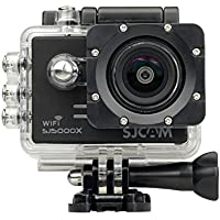 SJCAM SJ5000X Elite 4K 1080P WiFi Waterproof 170°Wide Angle Lens 12MP SONY IMX078 Gyro AV or HDMI Out And OSD Enabled Sport Action Camera (Black) + 1 EXTRA BATTERY