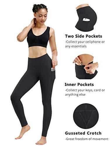 Fengbay High Waist Yoga Pants, Pocket Yoga Pants Tummy Control Workout Running 4 Way Stretch Yoga Leggings 2