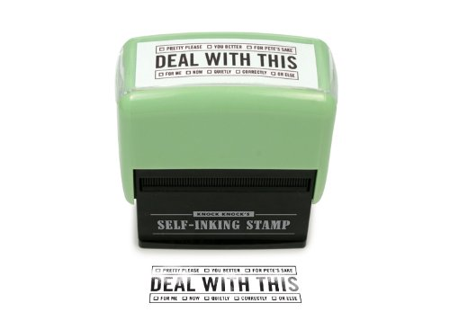 Self-Inking Stamp – Deal With This by Knock Knock
