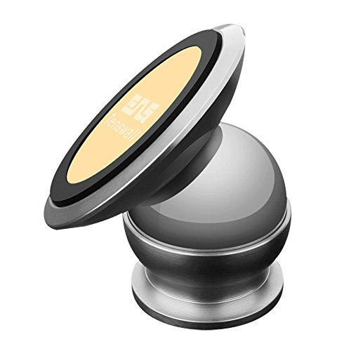 Tenswall 360 Degree Rotatable Magnetic Cell Phone Holder Sticky Magnetic Mini Mount Holder Car Mount Holder for iPhone 6S Plus, iPod, Samsung Galaxy S7 S6 Edge, LG, Nexus (Silver) (Iphone Car Mount Bean Bag compare prices)