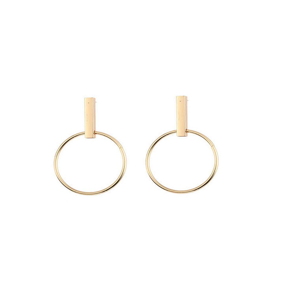 Essencedelight Earrings for Women Fashion Circle Hoop Accessories Gold Silver