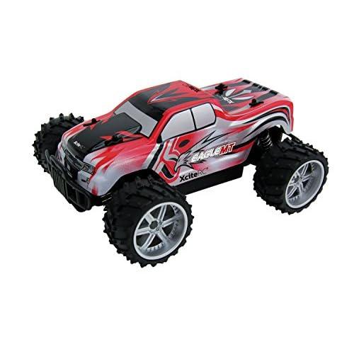 XciteRC - 30507100 - Eagle Monster Truck - Modèle voiture 2WD RTR - 2,4 GHz - Radiocommandé - Echelle 1/16 - Rouge